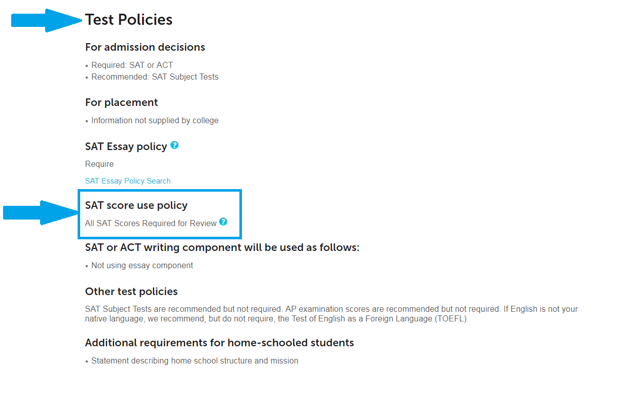 test policy example for Stanford