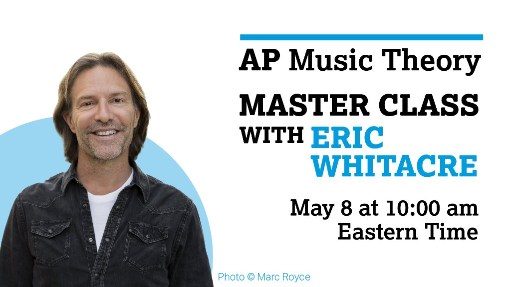 Eric Whitacre AP Master Class